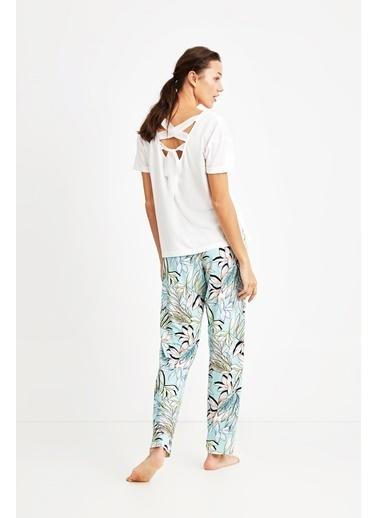 Penye Mood 9012 Battal Pijama Takım Beyaz